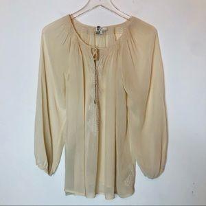 JOIE Cream Ivory Silk Blouse Medium